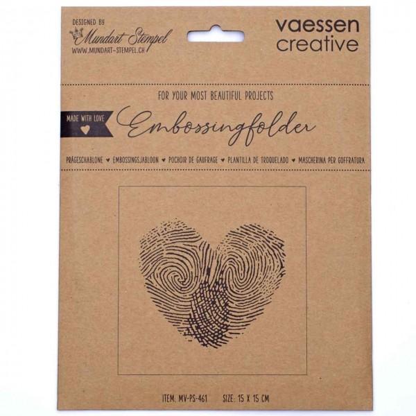 Mundart Embossingfolder Fingerabdruck in Herzform
