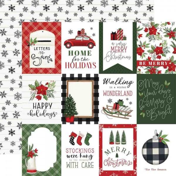 Carta Bella Home for Christmas - 3x4 Journaling Cards
