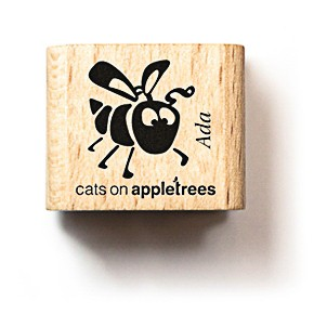 cats on appletrees Holzstempel Bienchen Ada