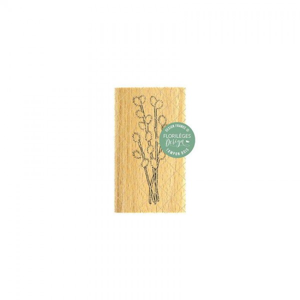 Florileges Holzstempel - Branche a` chatons
