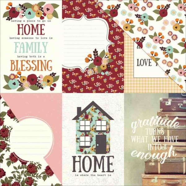 Simple Stories Vintage Blessings 4 x 6 vertical elements