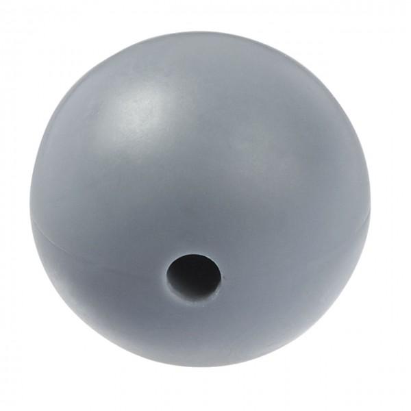 Schnulli-Silikon Perle grau