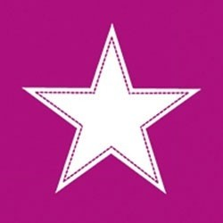 Paper+Design Lunchservietten simply Star orchid