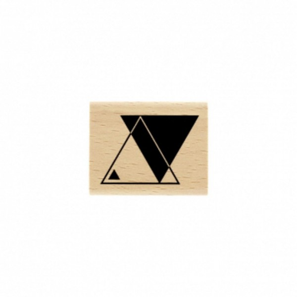 Florileges Design Holzstempel double triangle