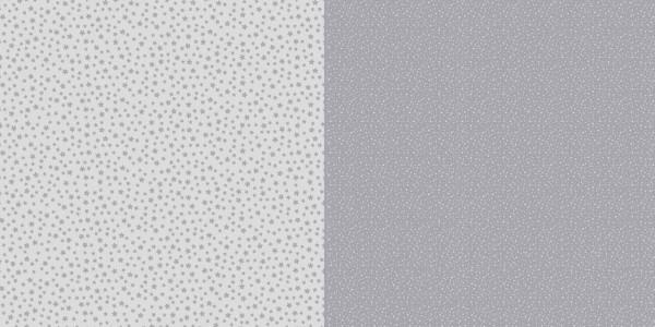 Dini Design Papier kleine Punkte/Blumen Steingrau