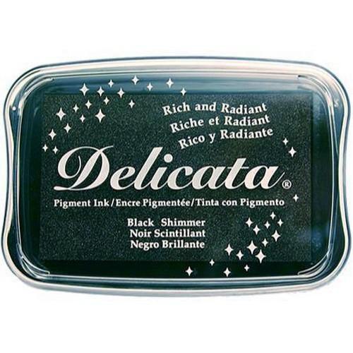 Delicata Pigment Ink - Black Shimmer