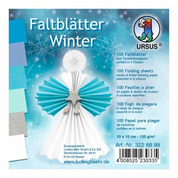 Faltblätter Winter 10x10
