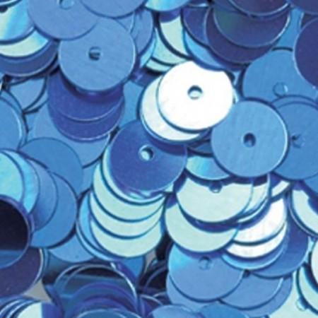 Pailletten rund flach hellblau