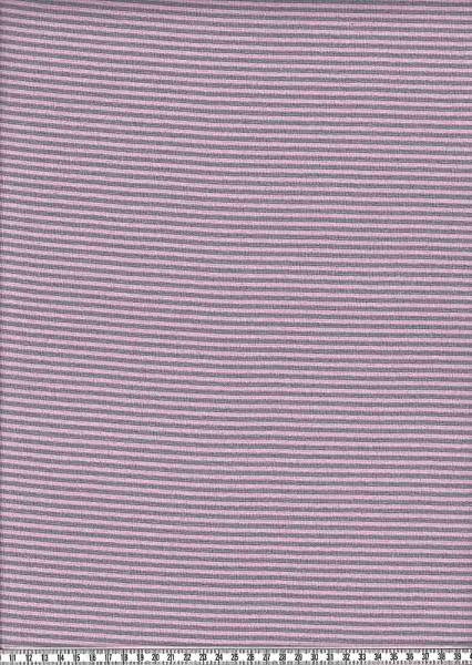 Bündchenstoff Andre Ringel rosa-grau