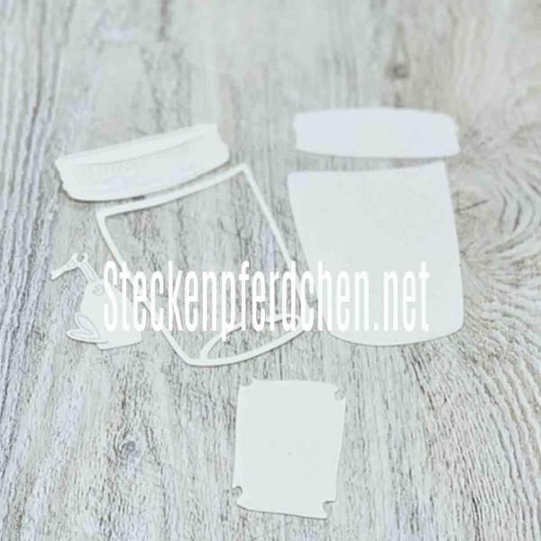 Steckenpferdchenstanze Schraubglas Set groß