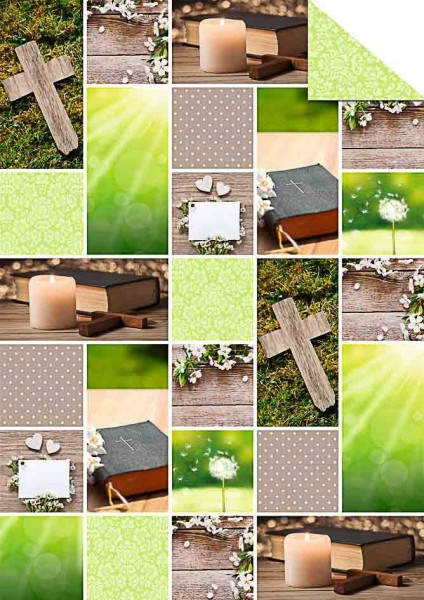 Fotokarton Hope A4 grün