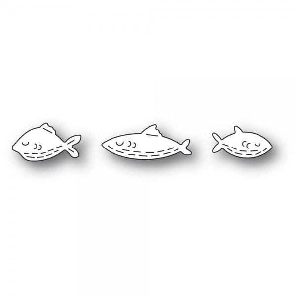 Poppystamps Stanzdie - Whittle Fish Trio