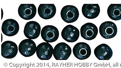 Rayher Holzperlen poliert schwarz 12 mm