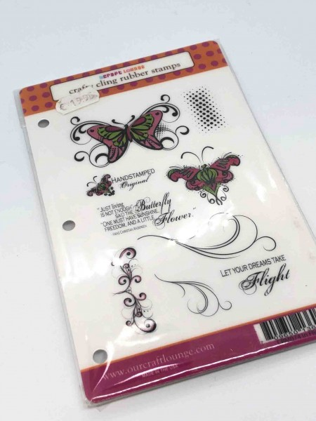 Craft Lounge rubber stamps - In Flight