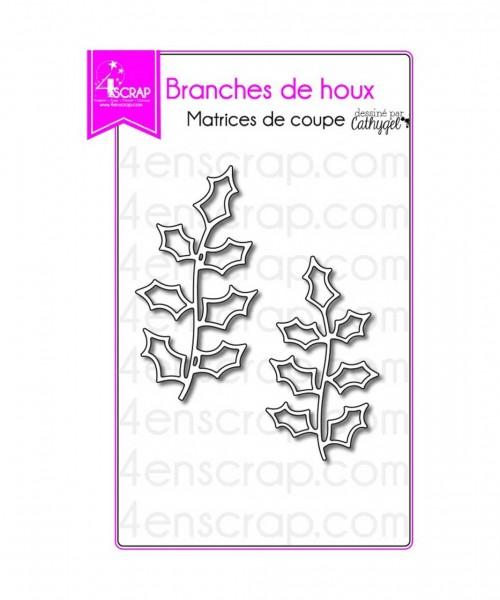 4en Scrap Stanzdie holly branches