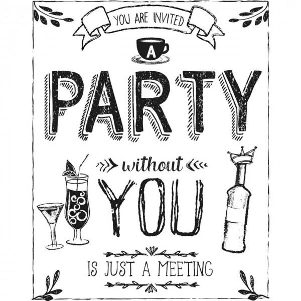 Rayher Holzstempel Party