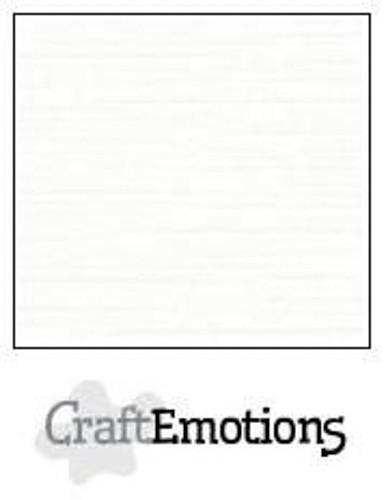 CraftEmotions Leinenkarton 10 Bg weiß