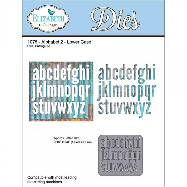 Elizabeth craft Design Dies Alphabet 2 Lower Case