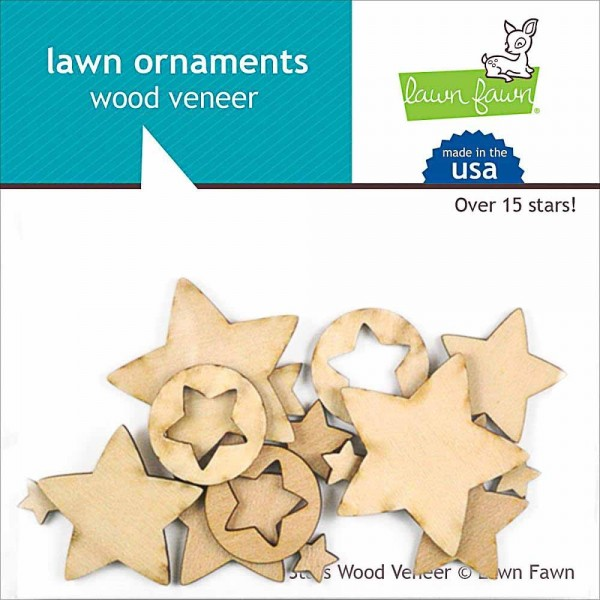 Lawn Fawn Holzstreuteile Sterne
