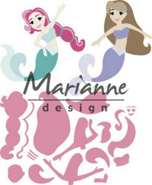 Marianne Design Collectables Stanz Set Meerjungfrau