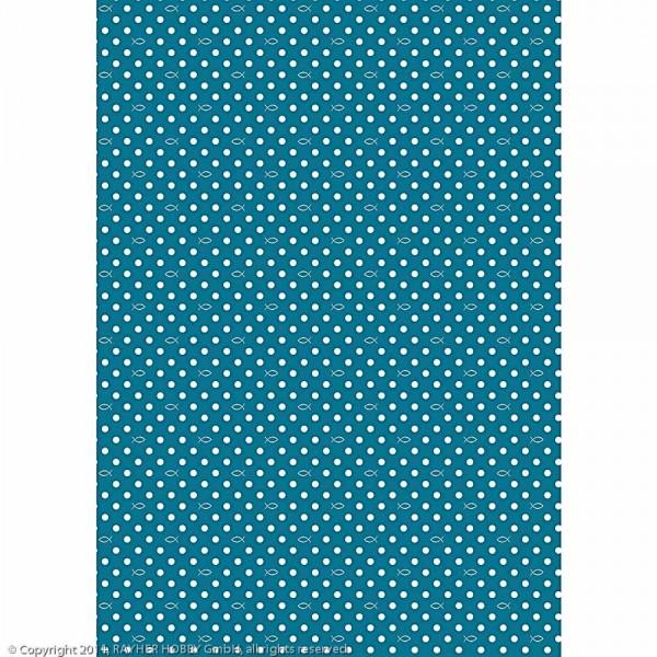 Motivkarton Punkte/Welle, 190g/m²