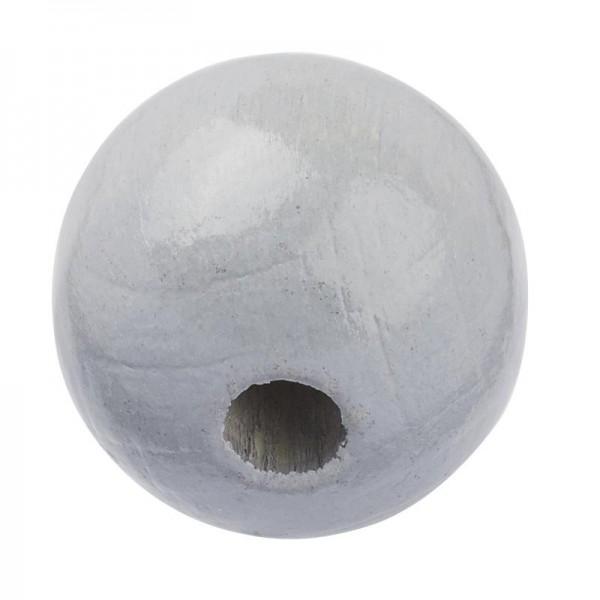 Schnulli Holzperlen 10 mm grau