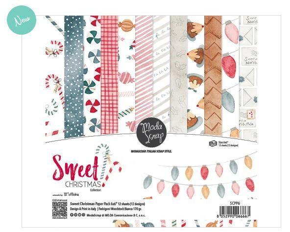 Moda Scrap Paper Pack 6 inch - Sweet Christmas