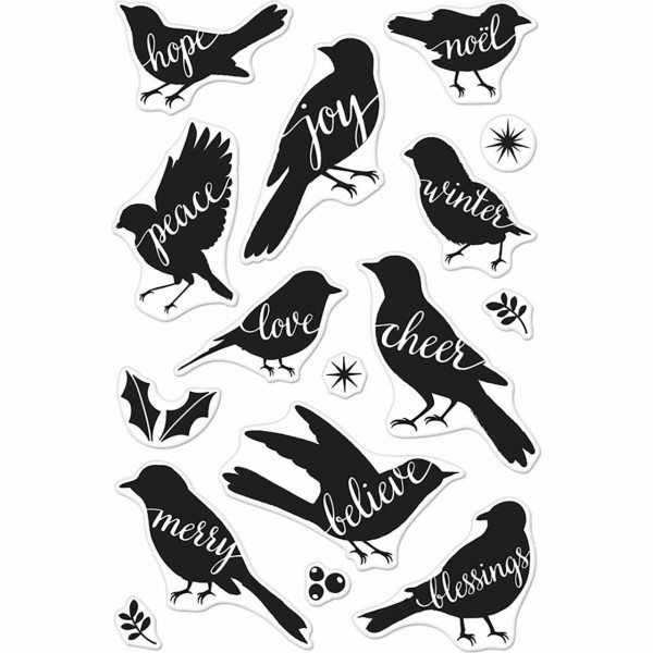 Hero Arts Clearstempel bird words