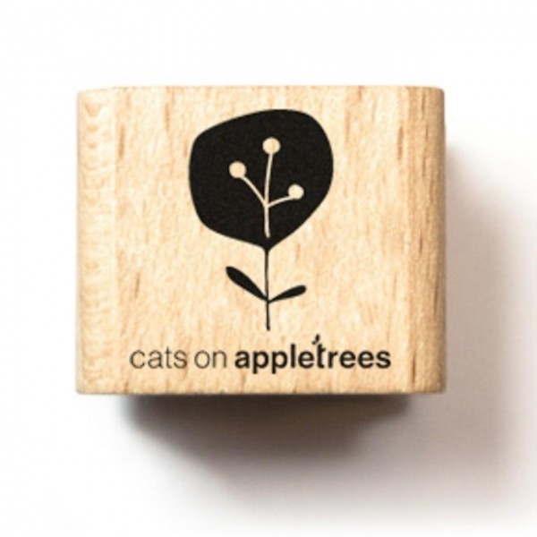 cats on appletrees Holzstempel Pflanze 19