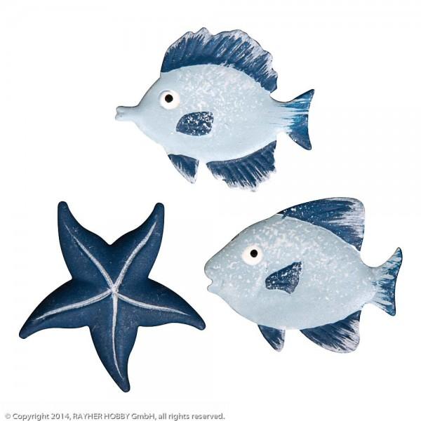 Rayher Metall Streuteile Fische und Seestern