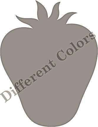 Different Colors Holzstempel Strawberry Black