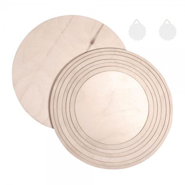Rayher Holzplatten/ringe Set natur
