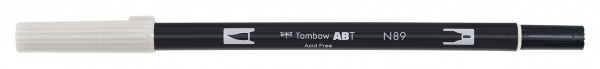 Tombow Dual Brush Pen - N89 - Grauton warm 1