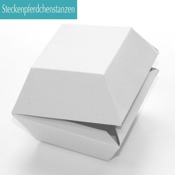 Steckenpferdchenstanze Verpackung Hamburgerbox