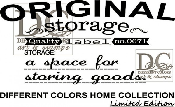 Different Colors Holzstempel Storage Label