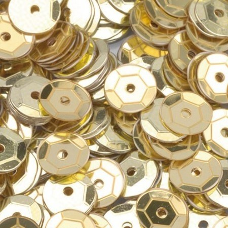 Pailletten rund gewölbt gold