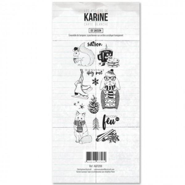 Kirelcraft Karine Clearstempelset de Saison