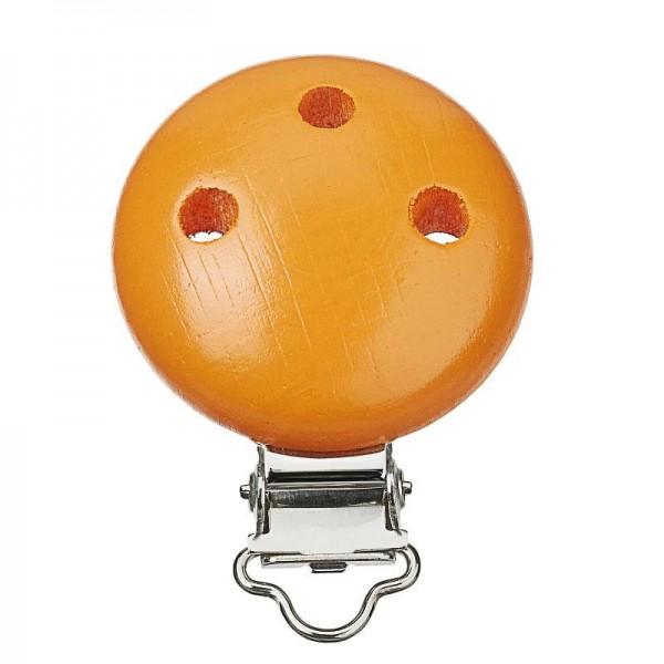 Schnullerketten Clips aprikot