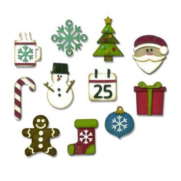 Sizzix Tim Holtz Thinlits mini christmas things