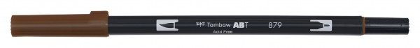 Tombow Dual Brush Pen - Brown - Braun Farbnr. 879