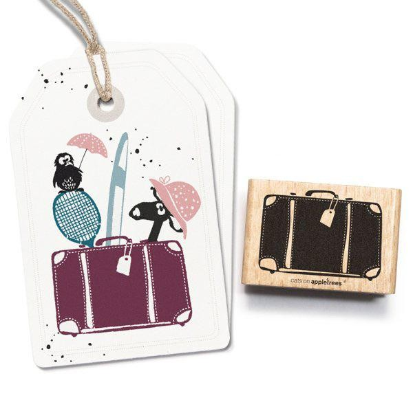 cats on appletrees Holzstempel Koffer 2