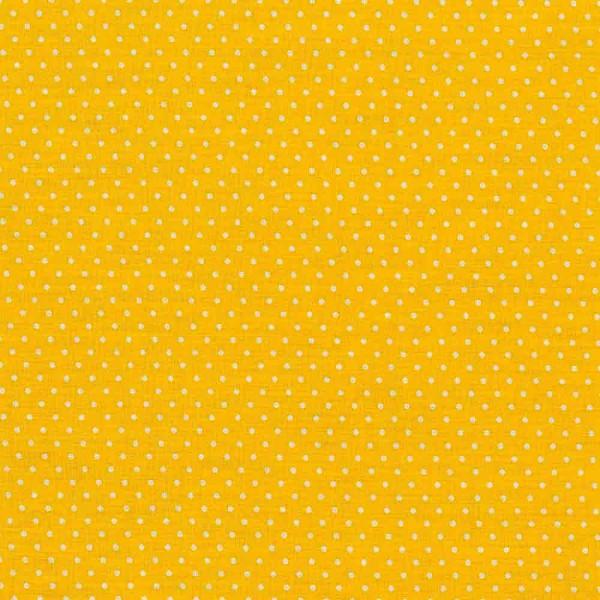 Baumwollstoff Judith getupft gelb