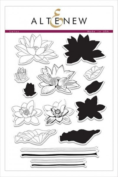 Altenew Clearstempel Set Lotus