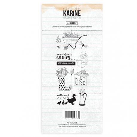 Les Ateliers de Karine Bienvenue chez moi Clearstempelset - a la ferme