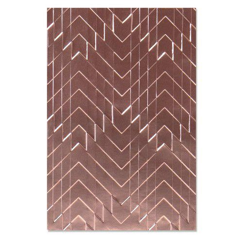 Sizzix 3-D Embossing Folder -Staggered Chevrons