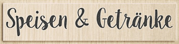 Heyda Holzstempel Speisen & Getränke