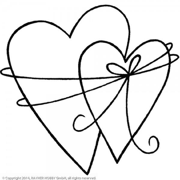 Holzstempel In Liebe verbunden