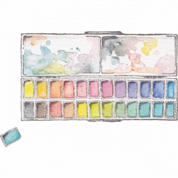 Stampingbella large rectangular half pan pallette