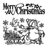 Inkadinkadoo rubber stamps merry christmas