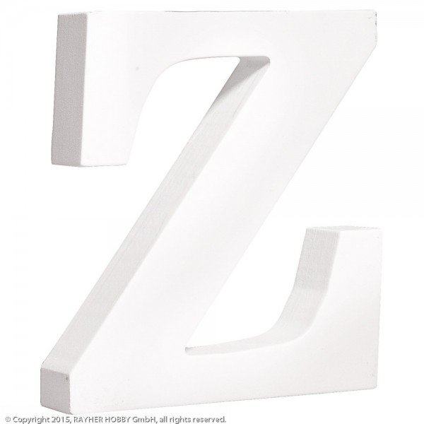 MDF- Buchstabe Z, weiß